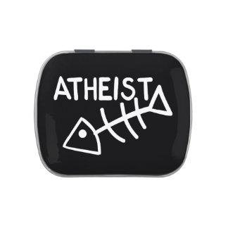 Atheist Fish Candy Tin