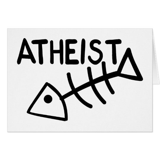 Atheist Fish Card