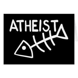 Atheist Fish Card