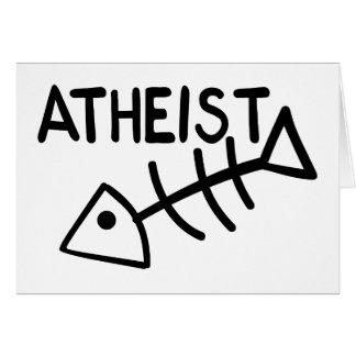 Atheist Fish Greeting Card