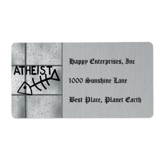 Atheist Fish Label