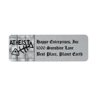 Atheist Fish Label