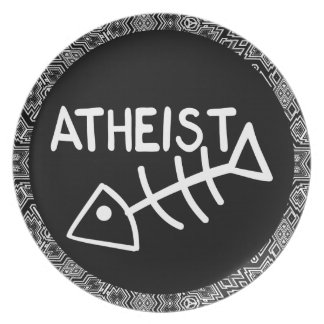 Atheist Fish Melamine Plate