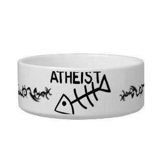 Atheist Fish Cat Water Bowls