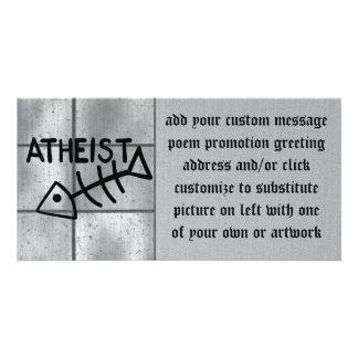 Atheist Fish Custom Photo Card