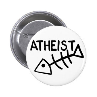 Atheist Fish Pinback Button