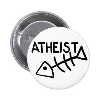 Atheist Fish Pinback Button