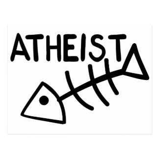 Atheist Fish Postcard