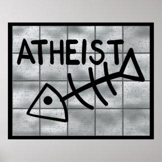 Atheist Fish Poster