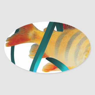 Atheist Fish Oval Sticker