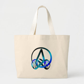 Atheist Forever Blue Large Tote Bag