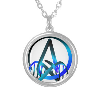 Atheist Forever Blue Silver Plated Necklace