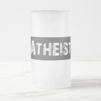 Atheist Frosted Glass Beer Mug