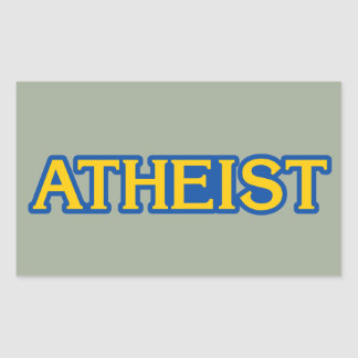 Atheist Gamer Rectangular Sticker