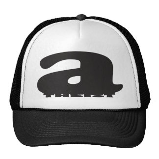 """aTHEIST"" (Giant ""a"" squishes puny ""theist"") Trucker Hat"