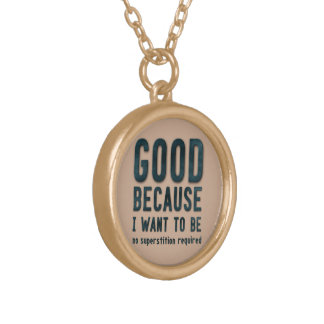 Atheist Gold Plated Necklace