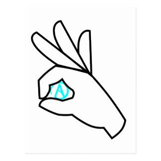 Atheist Hand Gesture Postcard