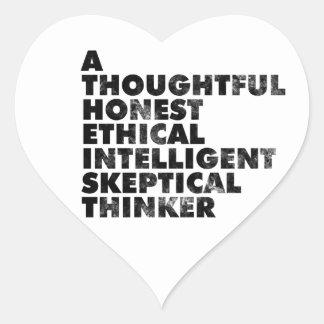 Atheist! Heart Sticker