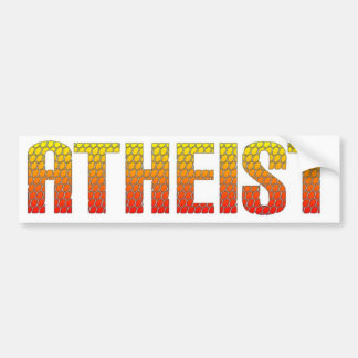 Atheist, hell wire fence style. car bumper sticker
