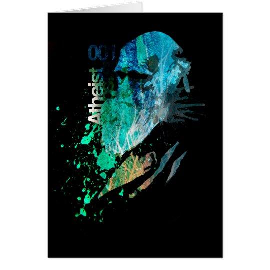 Atheist Heroes Charles Darwin Card