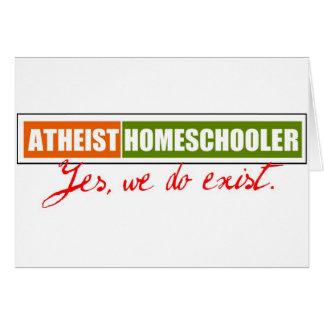 Atheist Homeschooler Greeting Card