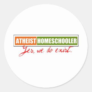 Atheist Homeschooler Classic Round Sticker