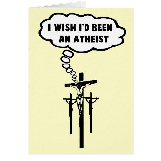 Atheist humor card