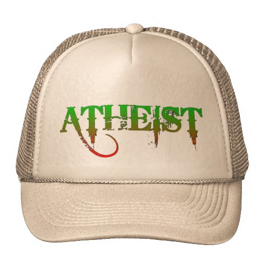 Atheist ID goth style green/red Cap