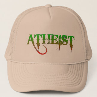 Atheist ID goth style green/red Trucker Hat