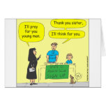 Atheist I'll think for you-color cartoon Cards