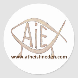 Atheist in Eden Sticker