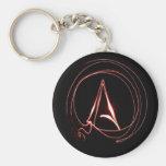 Atheist in Red Basic Round Button Keychain