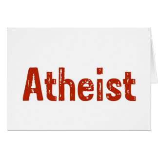 Atheist in Red Greeting Card