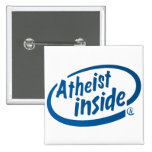 Atheist Inside 2 Inch Square Button