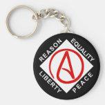Atheist logo keychain