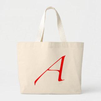Atheist logo large tote bag