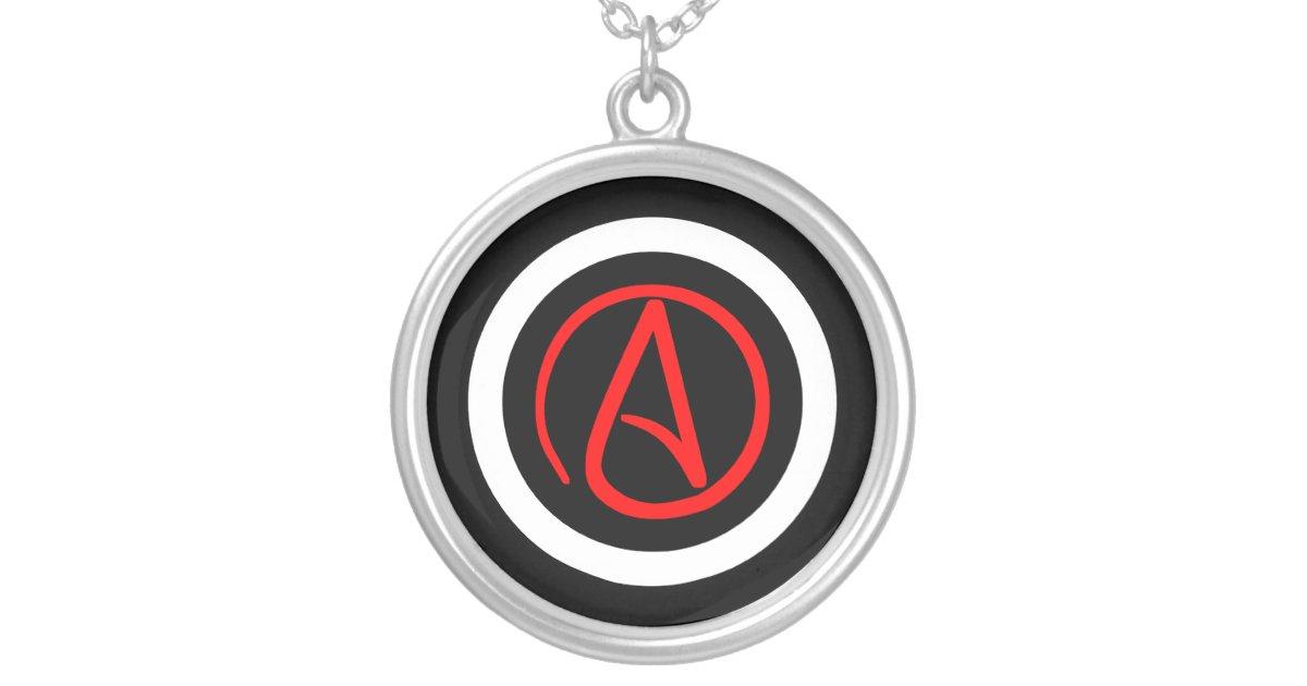 Atheist Logo Necklace Zazzle