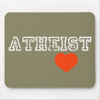 Atheist love mouse pad