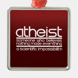 Atheist Metal Ornament