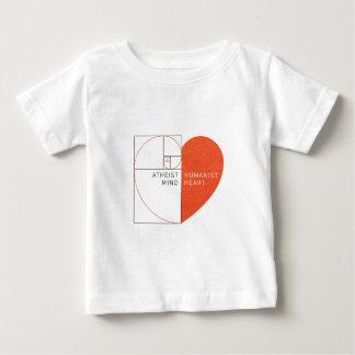 Atheist Mind, Humanist Heart Baby T-Shirt