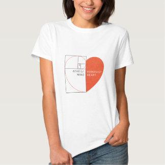 Atheist Mind, Humanist Heart Tee Shirt