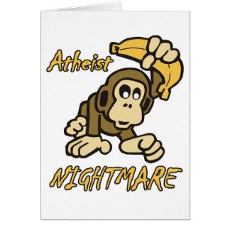 Atheist Nightmare Greeting Cards