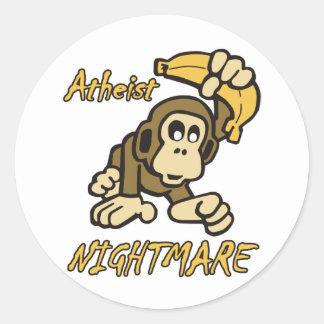 Atheist Nightmare Round Sticker