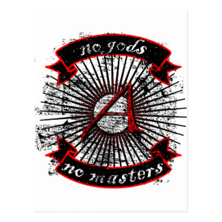 Atheist No Gods, No Masters Postcards