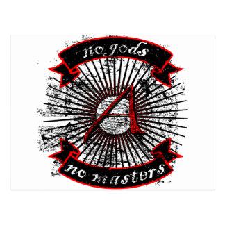 Atheist No Gods, No Masters Postcard