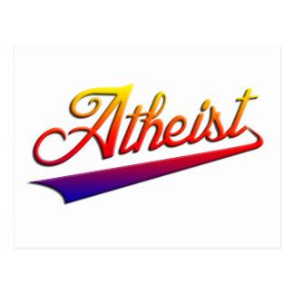Atheist Orange Swash Postcard