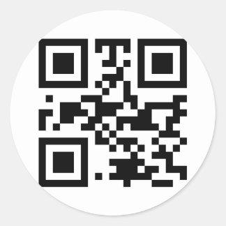 """""""ATHEIST"""" QR code Classic Round Sticker"""