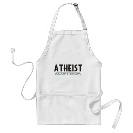 Atheist - Question Everything Adult Apron