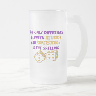 Atheist Quote Frosted Glass Beer Mug