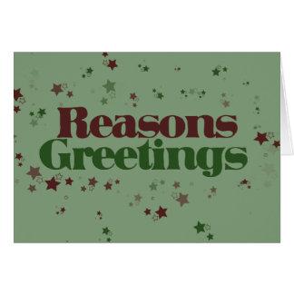 Atheist Reasons Greetings Greeting Card